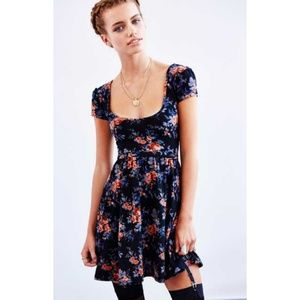 Urban Outfitters Floral Cap Sleeve Skater Dress